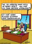 Deutscher Politiker beim Üben.